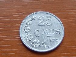 LUXEMBURG 25 CENTIMES 1972  ALU. #