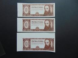 3 darab Táncsics próbaforma LOT Ívszéles bankjegyek !