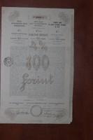 Pesti Hazai Első Takarékpénztár Egyesület, 100 Forintos kötvénye, 1894