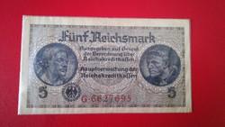 1940-1945 5 Reichsmark III. Birodalom