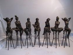 AKCIÓ ! Nagyon szép jelzett AKT  bronz szobrok