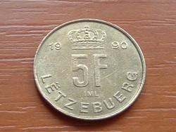 LUXEMBURG 5 FRANK 1990   #
