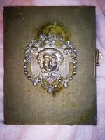 Antik fotó album 65 db antik fotóval 1812