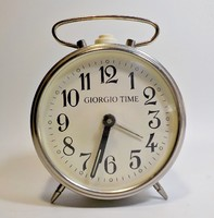 Giorgio time régi fém házas asztali óra
