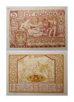 5 korona Pécs Városi szükségpénz   1920