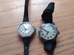 2 db antik ezüst óra