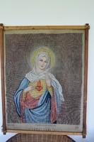 Mária szent szíve antik tűgobelin alap