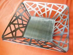 Modern vonalú 8 x 28 cm fém asztalközép......X.