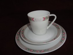HUTSCHENREUTHER SELB Bavaria német porcelán Noblesse  5 személyes reggeliző szett. cukortartóval