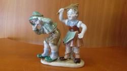 Ritka bájos W&A Bertram páros figura, hibátlan jelzett