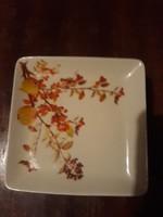 Hollóházi porcelán süteményes készlet