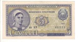 5 lei 1952 Románia 2.