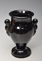 Extra ritka.! Korai körpecsétes Kántor Karcag Art Deco váza, 17cm