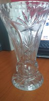 Ritka szép ,hatalmas,régi kristály váza.6000.-Ft