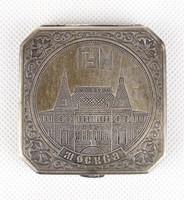 0X658 Régi ezüstözött orosz púderes szelence