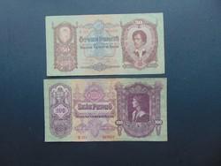 50 pengő 1932 - 100 pengő 1930 LOT !