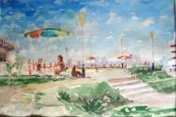   Marsovszky Endre: Balatoni strandon