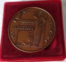 1896-1996 /100 Éves a Tungsram Bronz Emlékérme Eredeti Dobozában