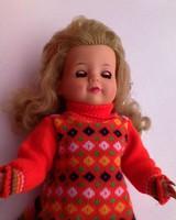 E.S. Régi játékbaba kb.1945-1970