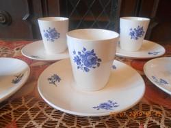Gránit kerámia, antik pohár készlet tányérokkal