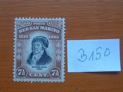 SAN MARINO 7-1/2 CENT.1935 Melchiorre Delfico halálának 100. évfordulója, 1744-1835  B150