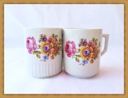 Zsolnay virágcsokor mintás porcelán bögrék