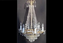 Antik empire stílusú korona kristálycsillár 6+3 izzós