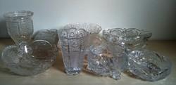 10 darabos metszett kristály-gyűjtemény!