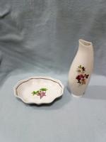 Hollóházi tálka és váza