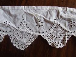 Régi csipke szalag, madeira csík, szegély-antik baba ruha varráshoz