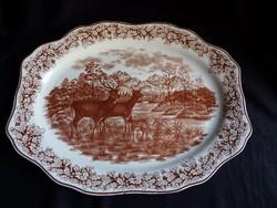 Nagy méretű angol porcelán sültes tál