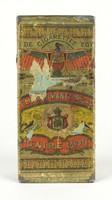 0X810 Antik egyiptomi szivarka fémdoboz pléhdoboz