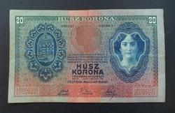 Magyar Osztrak Bank 20 korona 2. 01. 1907