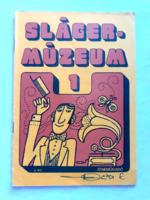 Slágermúzeum 1 régi kotta retro kottafüzet
