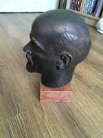 Szignált Lenin szobor Mikus Sándor munkája