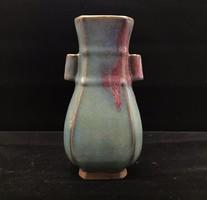 Jun mázas kínai porcelán váza- Kína