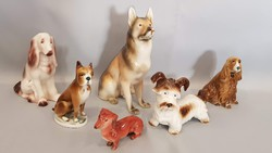 Zsolnay, Royal Dux, Hollóházi és Aquincum porcelán kutyák egyben!