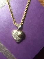 Gyémánt medál 14k arany