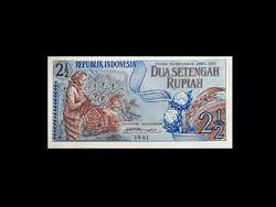 UNC - 2 1/2 RÚPIA - INDONÉZIA - 1961