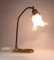 0X880 Antik szecessziós réz íróasztali lámpa