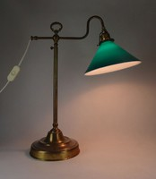 0X877 Régi állítható íróasztali lámpa banklámpa
