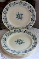 Longwy Russe francia fajansz lapos tányérok