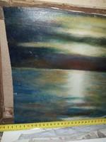 Remek akril naplemente, vásznon
