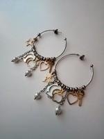 Designer ezüst fülbevaló gyönyörű!!