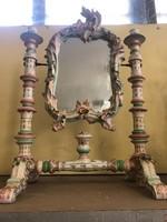 Porcelán forgó tükör gyertyatartós