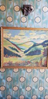 Retró farost festmény/1974/