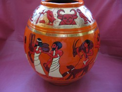 Stekly Zsuzsa Lampart zománcos váza