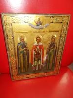 Régi kézzel festett orosz ikon