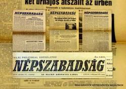 1972 szeptember 12  /  NÉPSZABADSÁG  /  SZÜLETÉSNAPRA! RETRO, RÉGI EREDETI ÚJSÁG Szs.:  11352