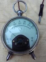 Antik,ritka kézi voltmérő műszer